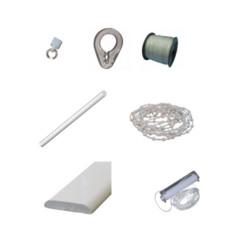 vouwgordijnsysteem onderdelen